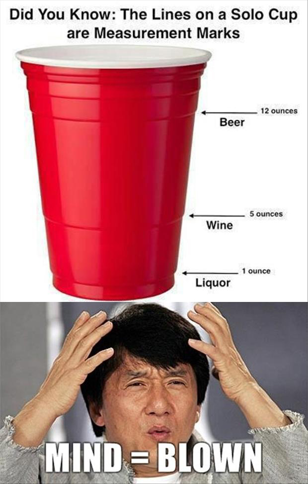 mind blown, red solo cup