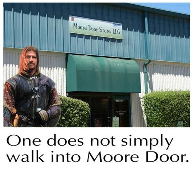 one does not simply walk into moredoor