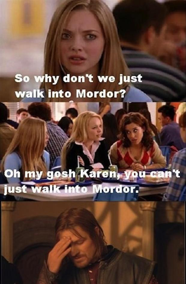 one does not walk into mordor, funny quotes