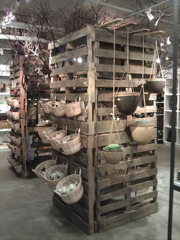 pallet shelves for stores