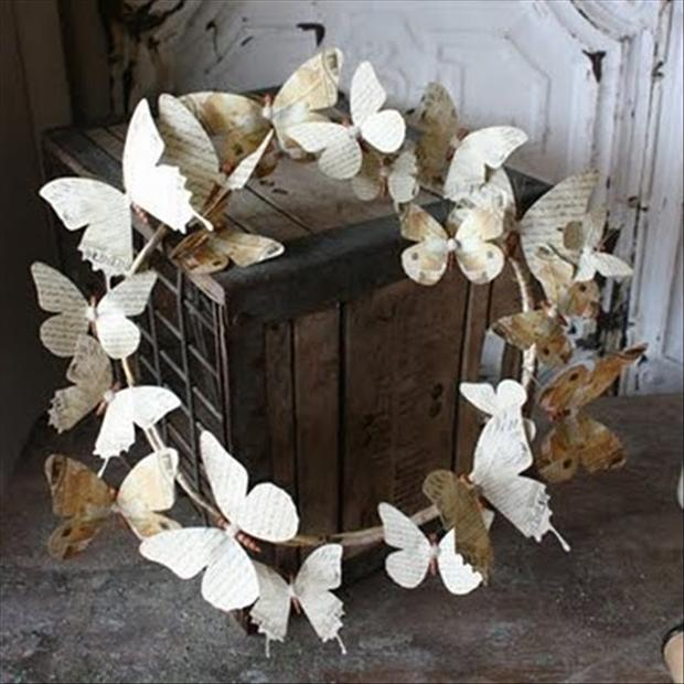 paper butterflies, crafts