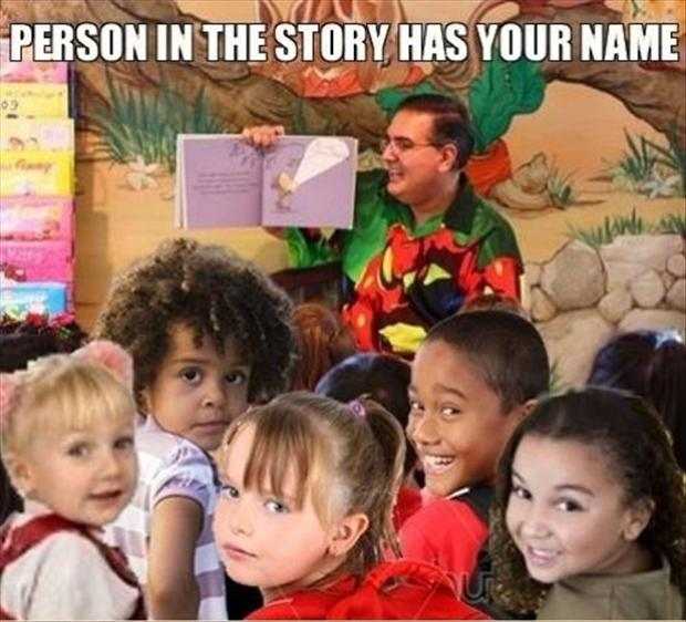 person in the story has your name