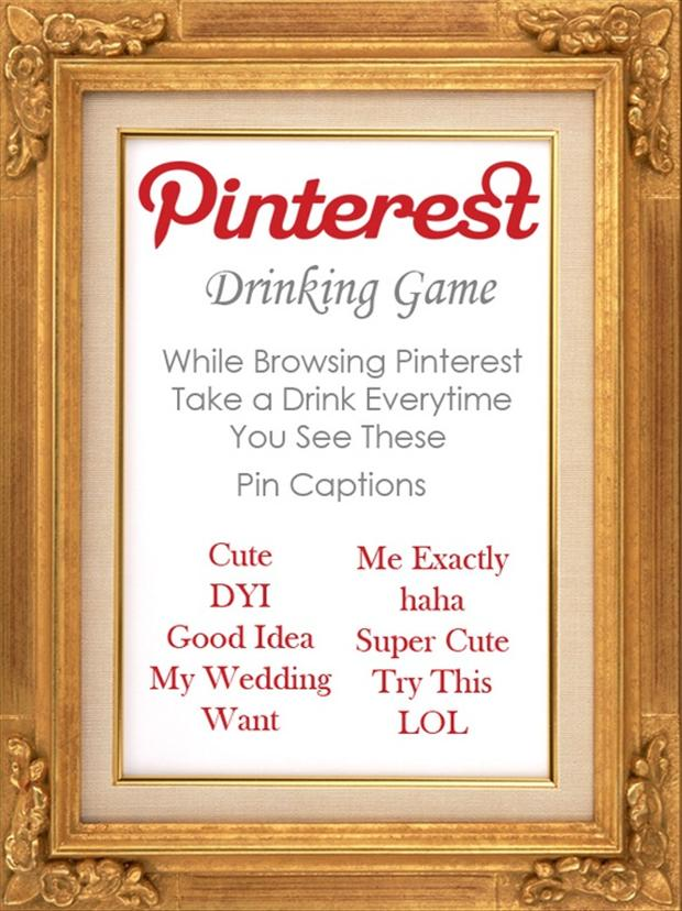 pinterest drinking game
