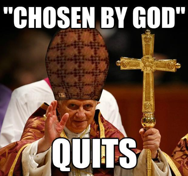 pope quits, funny pictures