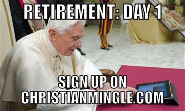 pope retires funny pictures