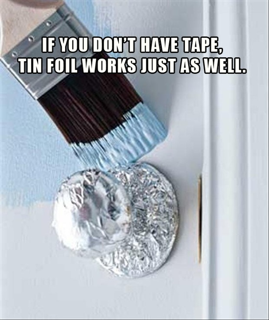quick tip, use tin foil when painting
