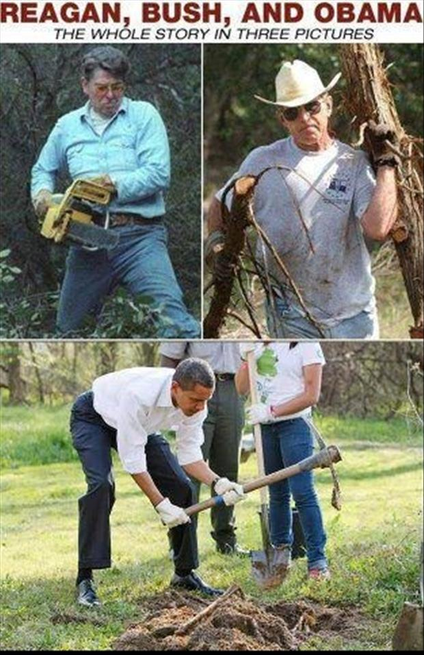 reagan, bush and obama working, funny pictures