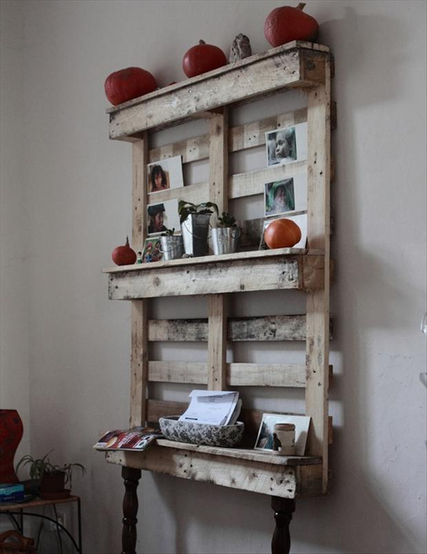reuse old pallets, shelves