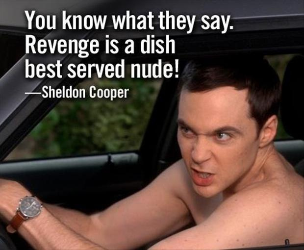 revenge is a dish best served nude sheldon cooper