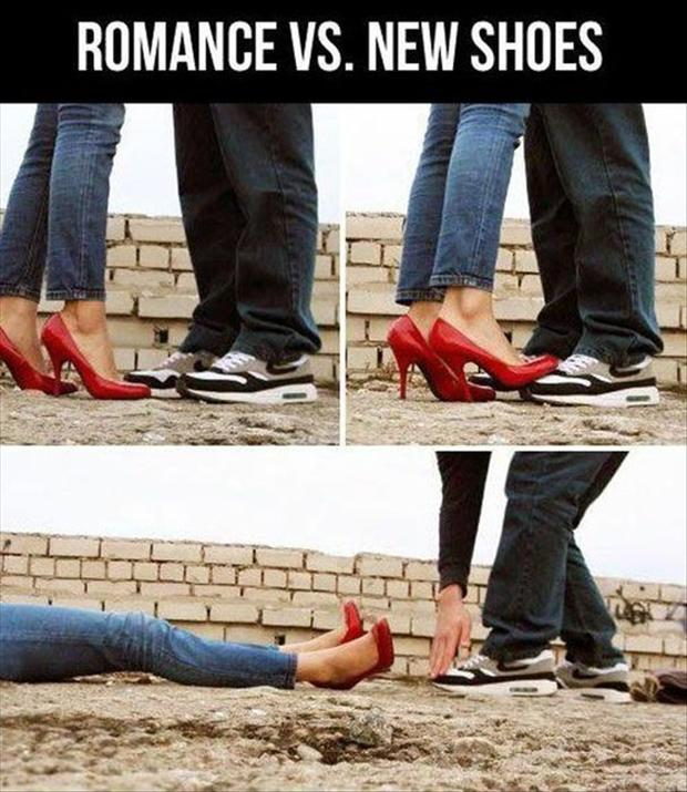 romance vs new shoes