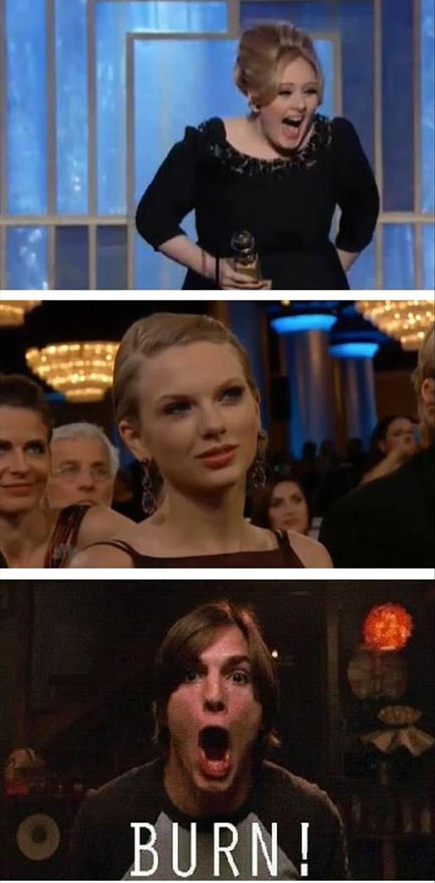 taylor swift, adele, funny pictures