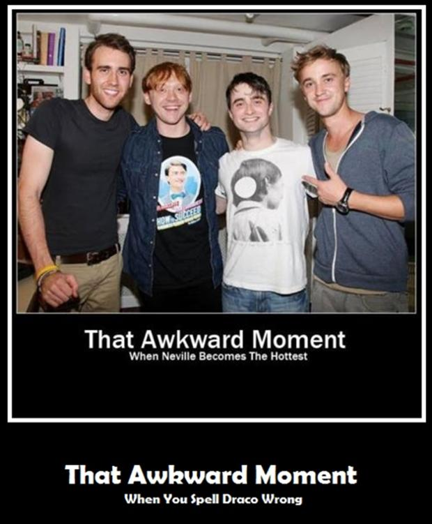 the awkward moment when , harry potter