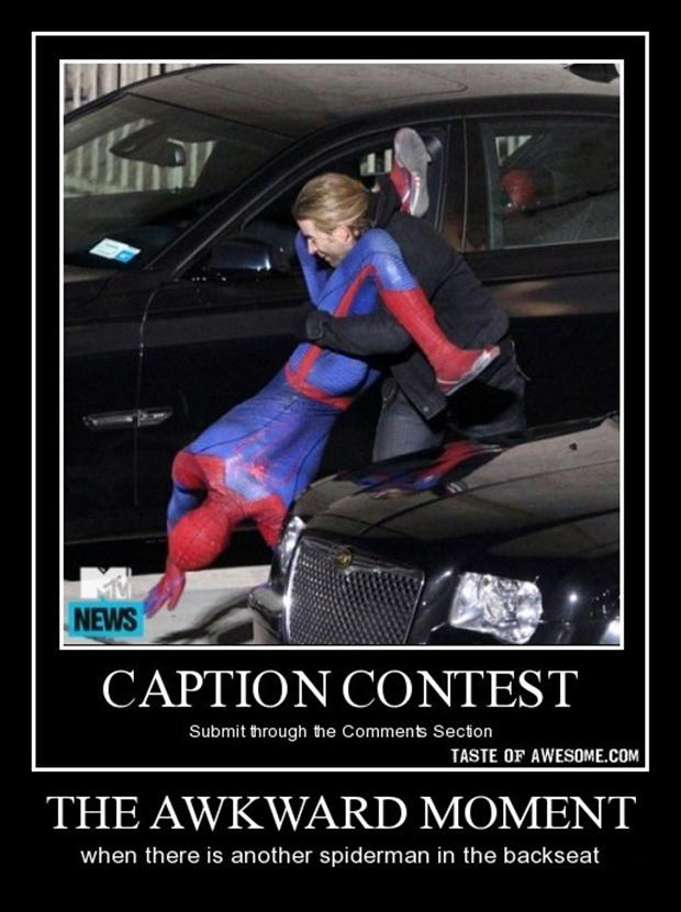 the awkward moment when, spiderman