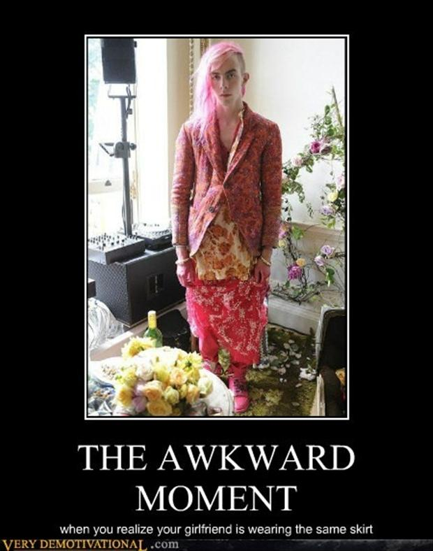 the awkward moment when ugly man