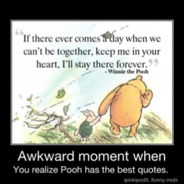 the awkward moment when winnie the pooh