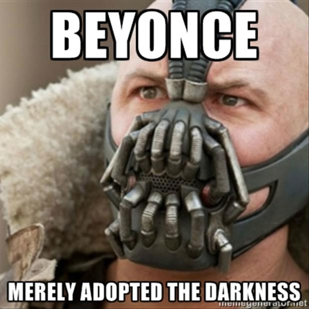 the beyonce super bowl meme, bane from batman
