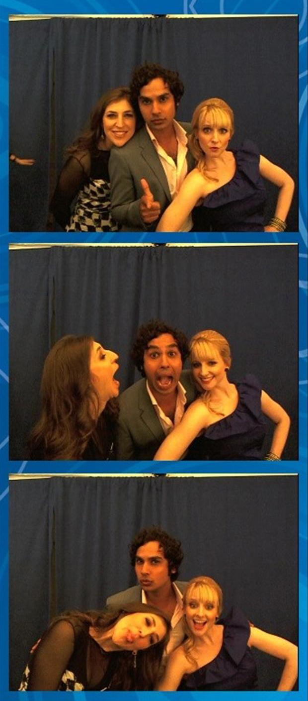 the big bang theory cast members having fun