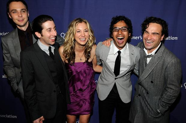 the big bang theory cast members out on the town