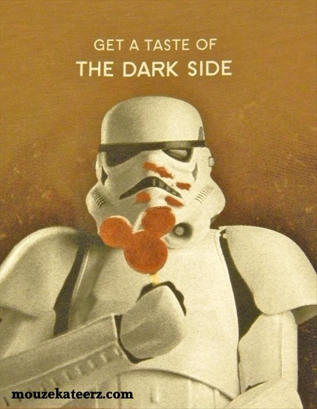 the dark side, funny star wars pictures
