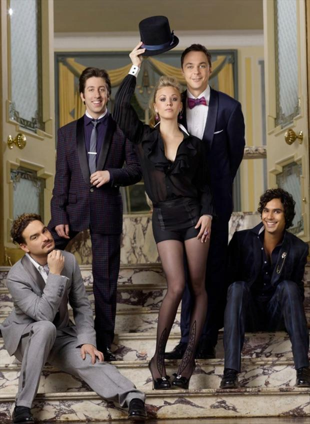 tuxes and sexy dresses, big bang theory cast members