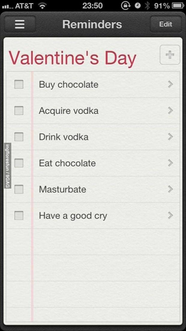 valentine's day to do list
