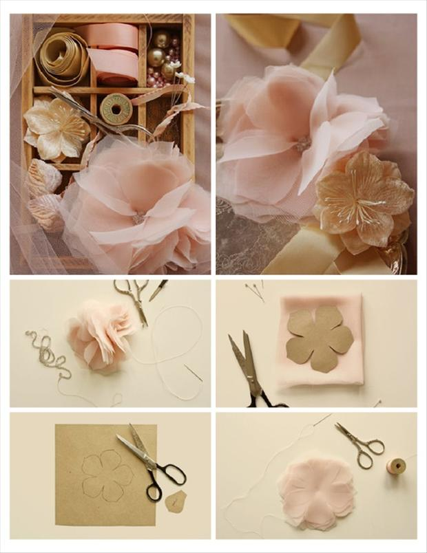 wedding craft ideas, silk flowers