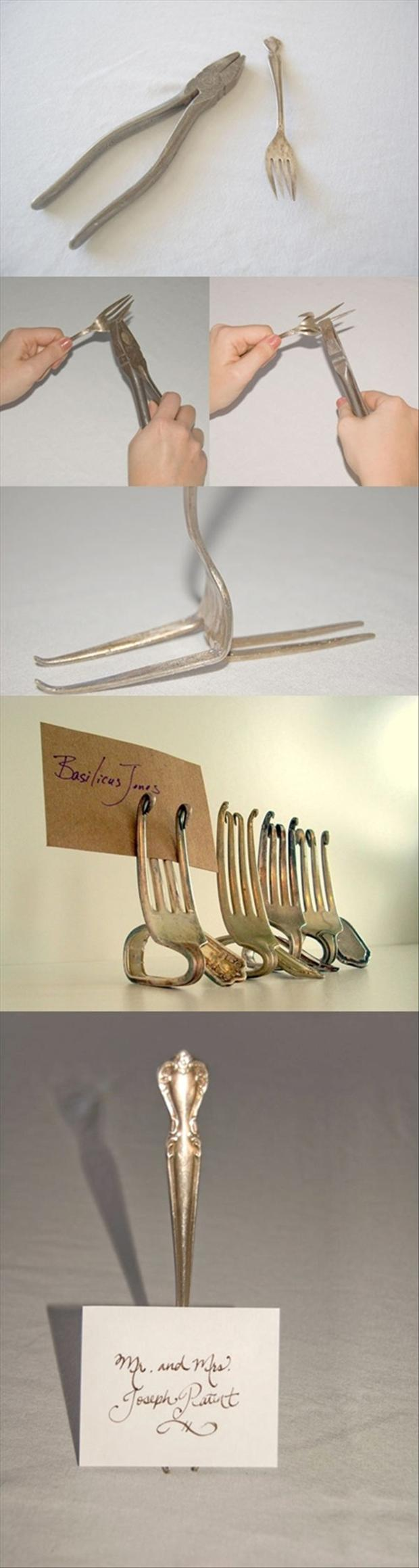 wedding crafts, recycle old forks