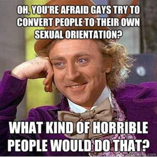 willy wonka meme gay people
