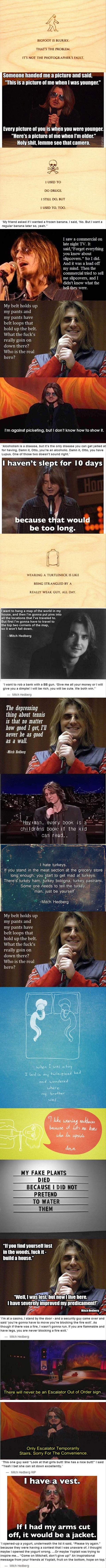 21 mitch hedberg quotes