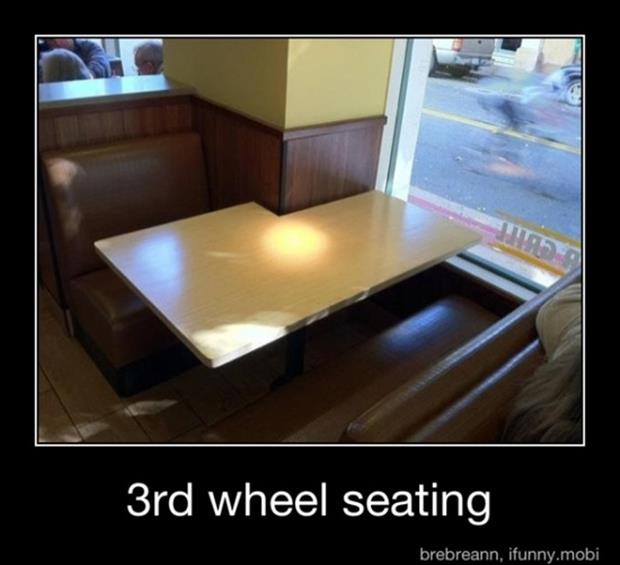 3rd wheel seating