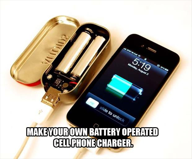 A make your own cell phone charger