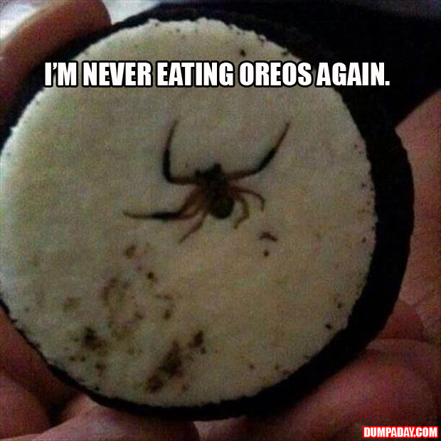 A never eat another oreo again