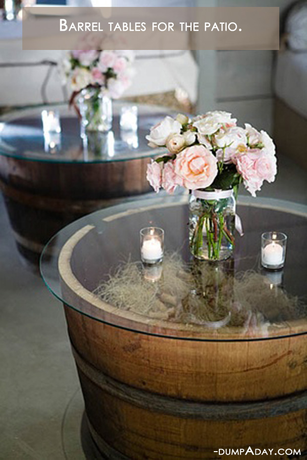 Amazing Easy DIY Home Decor Ideas- barrel tables