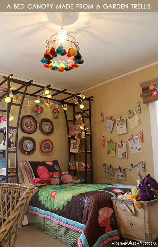 Amazing easy diy home decor ideas bed canopy dump a day for Simple house decoration ideas