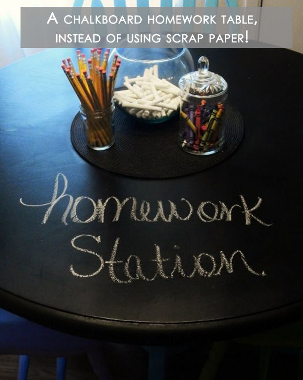 Amazing Easy DIY Home Decor Ideas- chalkboard homework station
