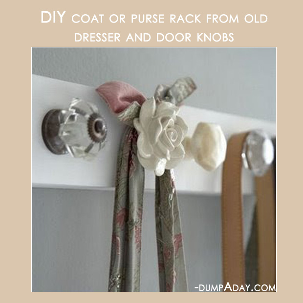 Amazing Easy DIY Home Decor Ideas- old door knob coat rack