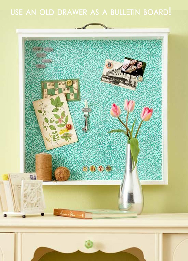 easy diy home decor ideas old drawer bulletin board dump a day