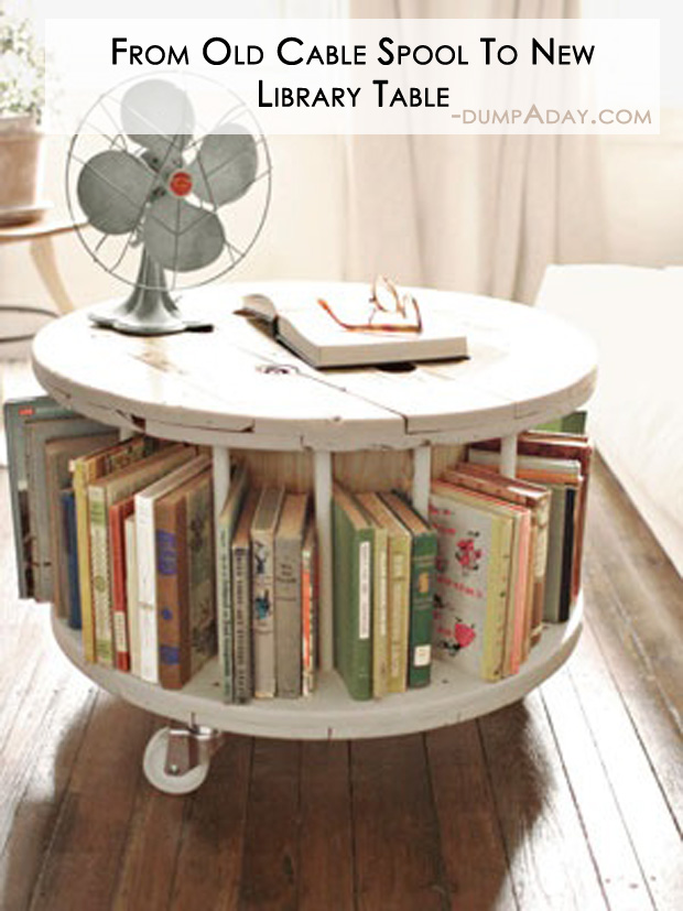 Amazing Easy DIY Home Decor Ideas- uplcycled old cable spool