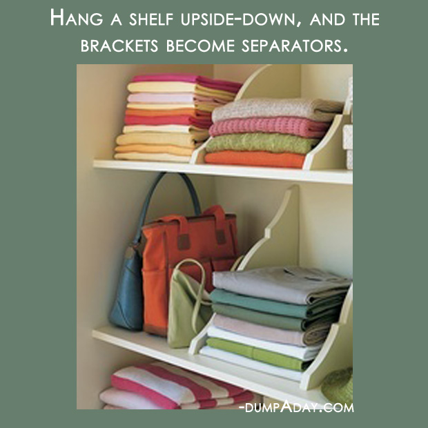 Easy Home Decor Ideas: Amazing Easy DIY Home Decor Ideas- Upside Down Shelves