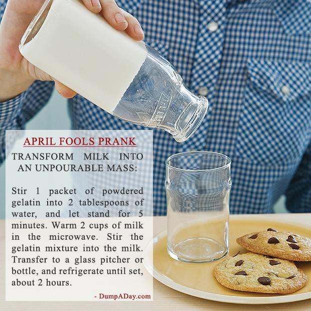 April Fools Pranks- Solid Milk