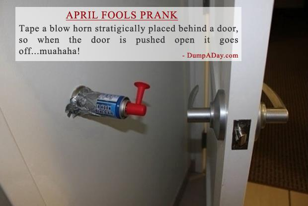 April Fools- blow horn Prank