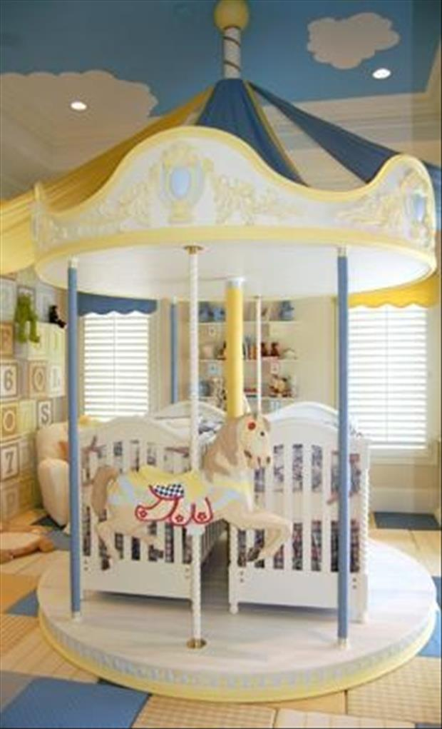 Awesome Kids Bedrooms - Carousel baby room