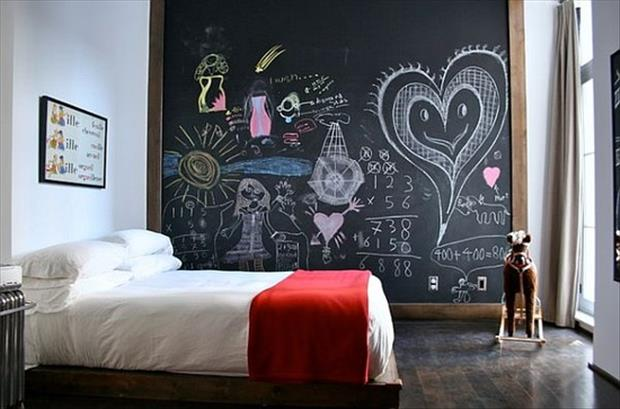 Awesome Kids Bedrooms - Chalkboard wall