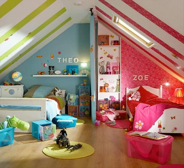 awesome kids bedrooms girl and boy shared room dump a day