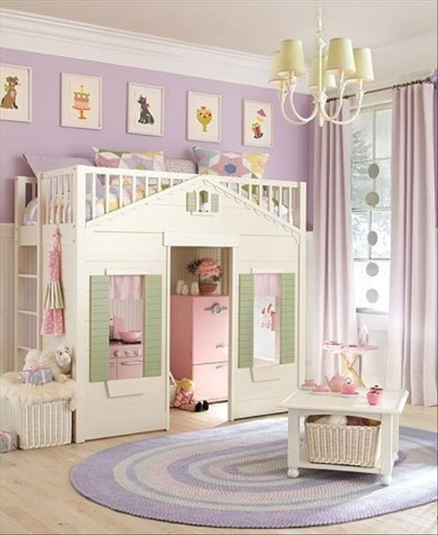 Awesome Kids Bedrooms Girls Playhouse Room Dump A Day. Awesome Girl Bedrooms