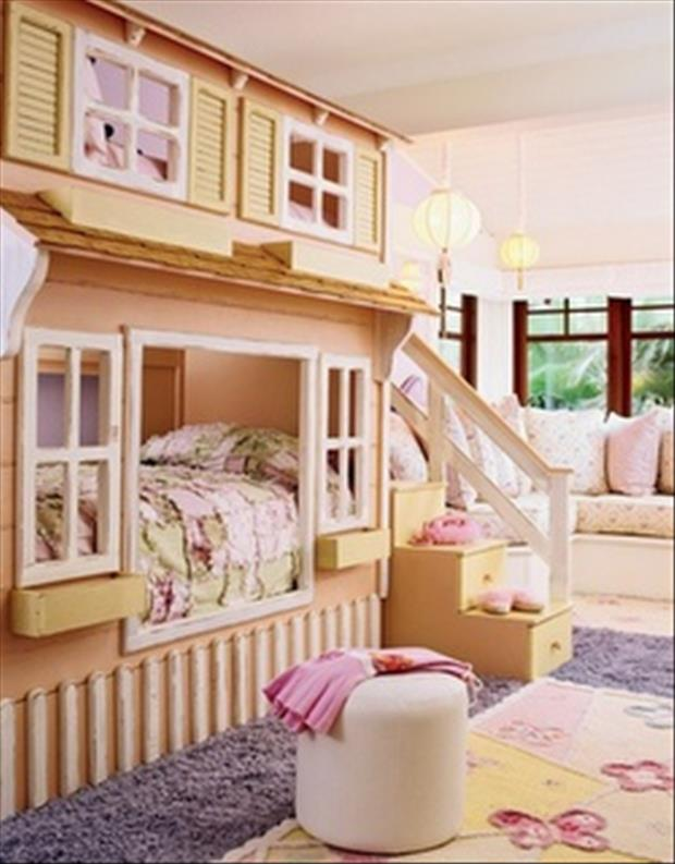 Awesome Kids Bedrooms - Girls playhouse themed room