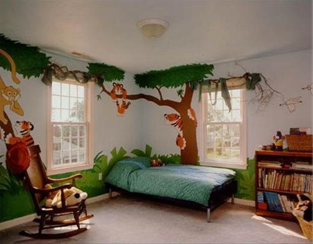 Awesome Kids Bedrooms - Jungle themes