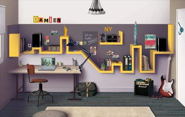 Awesome Kids Bedrooms - NY Skyline