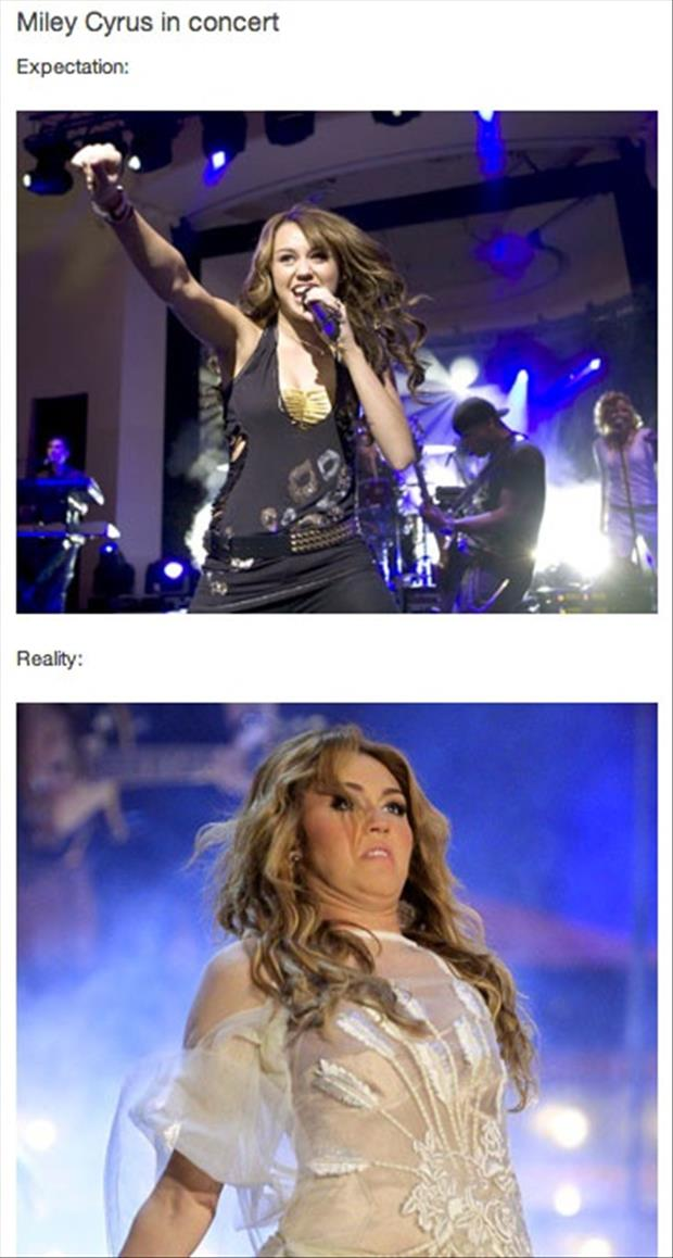 Best of Expectation Vs Reality Pictures-Miley Cyrus concert