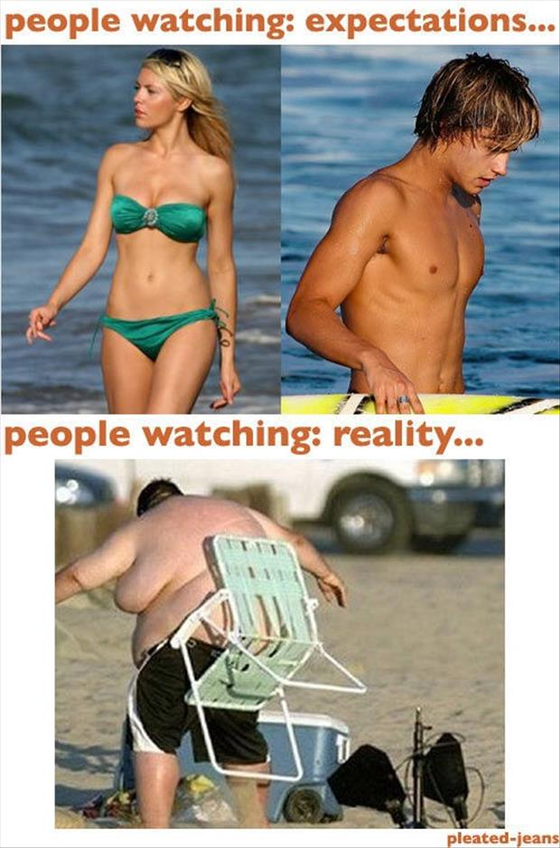 Best of Expectation Vs Reality Pictures- People watching
